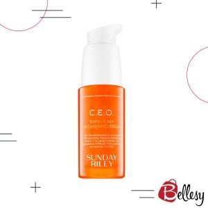 skin serum, face serum, healthy skin, bellesy, SUNDAY RILEY, C.E.O. Rapid Flash Brightening Serum