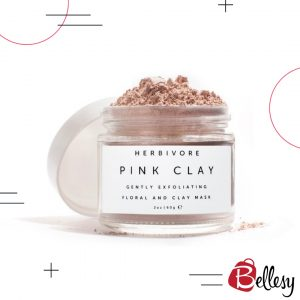 bellesy, clay mask, mud mask, pink clay mask, pink mud mask, HERBIVORE BOTANICALS, Pink Clay - Exfoliating Mask