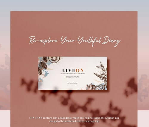 Liveon Restore Your Youthful Day Banner